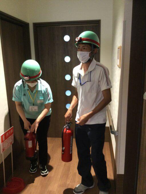 消防訓練をファミリーケア島と共同で行いました